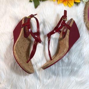 Ralph Lauren Split Toe Casual T-Strap Sandals 8B